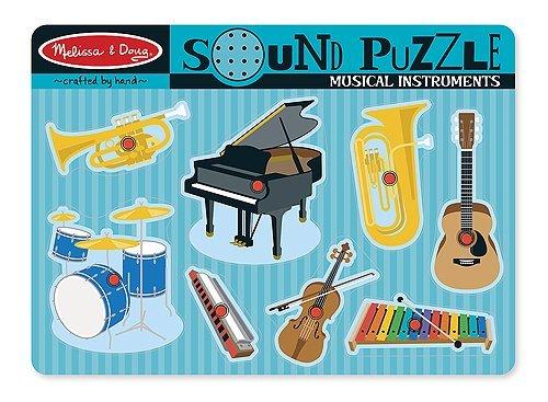 2 Item Bundle Melissa Doug 732 Musical Instruments Sound Puzzle  Free Activity Book