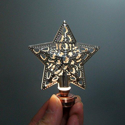 BESTLEE Dollhouse Miniature Silver Star Hollow LED Light Desk Lamp Silver