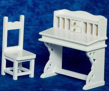 Dollhouse Desk Chair Set 2 White