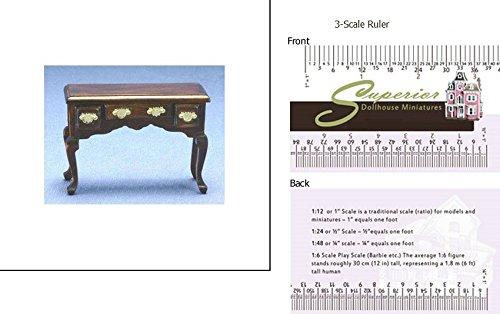 Walnut Dollhouse Desk
