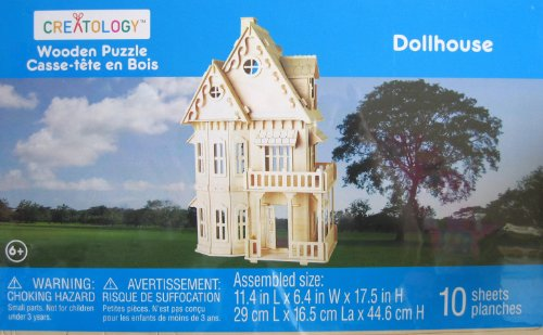 Creatology Wooden Puzzle Dollhouse 3-D Wood Puzzle