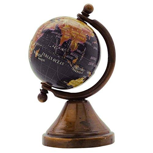 Vintage Dollhouse Miniature Earth Globe World Car Dashboard Table Décor Gift