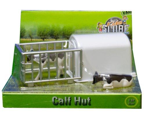 132 Black White Kids Globe Farm Calves House With 2 Calves