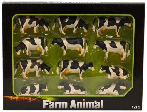 132 Kids Globe Farm Pack Of 12 Lying Standing Cows