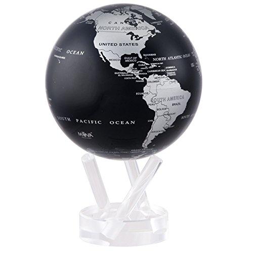 45 Silver and Black Metallic MOVA Globe