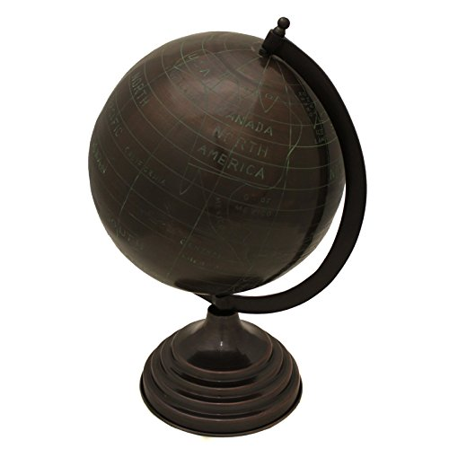 Urban Designs Decorative Metal Tabletop Globe 19 Espresso