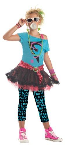 California Costumes 80s Valley Girl Tween Costume  TurqBlack Large