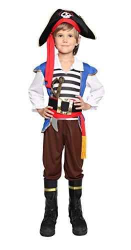 Boys Pirate Costume Halloween Kids Deluxe Costume Set - Chief-M