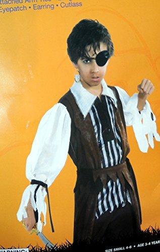 Boys Pirate Costume Small 4-6