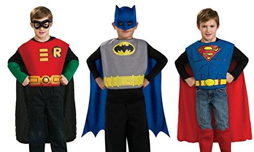 DC Comics Boys Action Trio Superhero Costume Set
