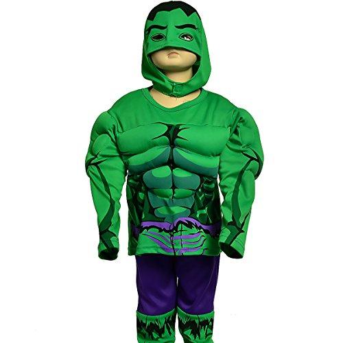 Dressy Daisy Boys Muscle Incredible Hulk Avenger Superhero Costume Halloween Party Size 3T