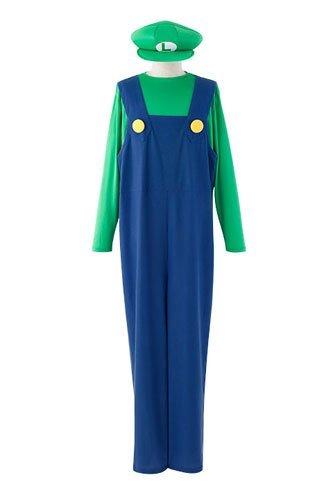 ACOS Super Mario Luigi Costumes Ladies Free Size
