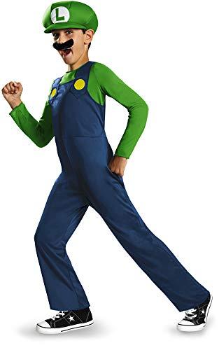 Boys Disney Classic Super Mario Brothers Luigi Costume Toddler 3T-4T Blue