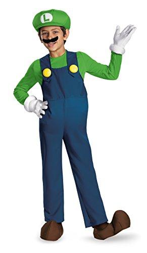 Disguise Boys Nintendos Super Mario Brothers Luigi Deluxe Costume Blue Large