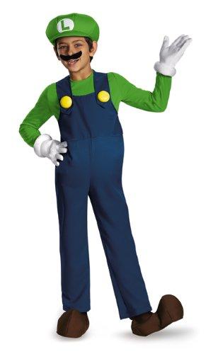 Disguise Nintendo Super Mario Brothers Luigi Prestige Boys Costume Medium7-8