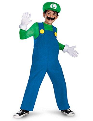 Mario and Luigi Kids Costume Luigi green blue - Small