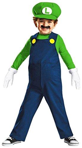 Nintendo Super Mario Brothers Luigi Boys Toddler Costume Small2T
