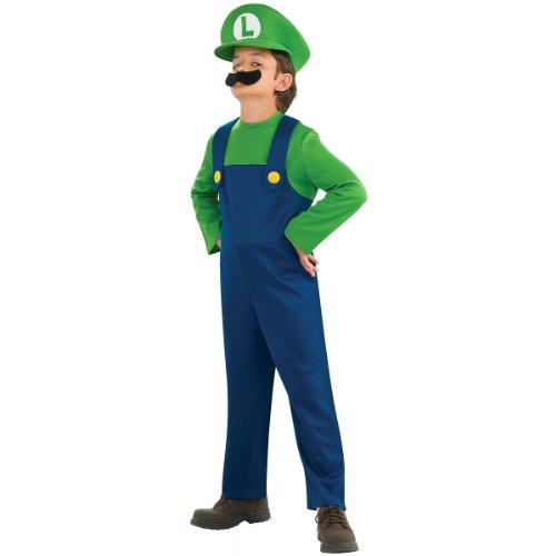 Super Mario Bros - Luigi Child Costume size Medium 8-10