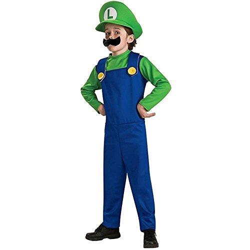 Super Mario Bros - Luigi Child Costume size Small 4-6