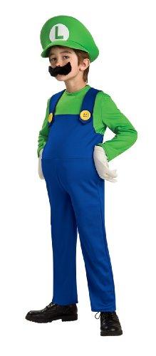 Super Mario Brothers Deluxe Luigi Costume Large