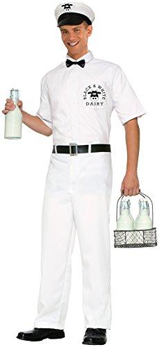 Forum Novelties Mens 50s Milkman Costume White Standard