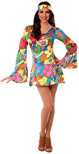 Forum Novelties Womens Hippie Costume Groovy Go-Go Dress Multi X-SmallSmall