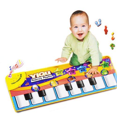 LandFox Toy Kids Touch Play Keyboard Musical Music Singing Gym Carpet Mat