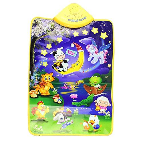VoberrÂBaby Kid Game Toys Animal Musical Touch Play Singing Gym Carpet Mat baby music mat