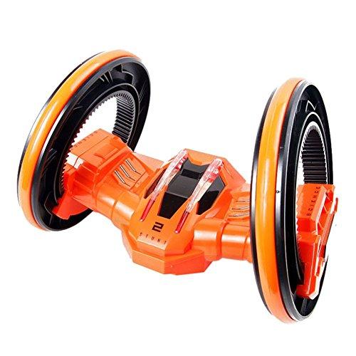 Jutao Boys Anti-Impact 360 Rotated Wireless Remote Control Stunt Car Toys Orange