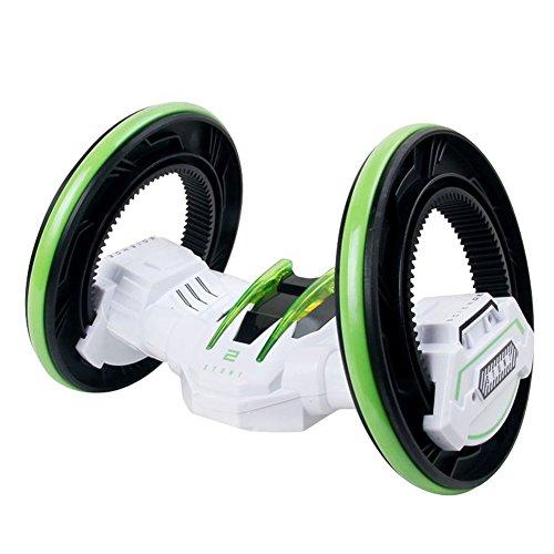 Jutao Boys Anti-Impact 360 Rotated Wireless Remote Control Stunt Car Toys White