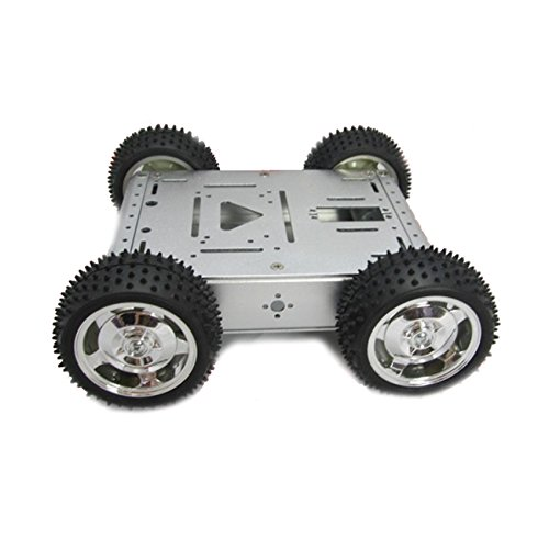 UniHobby 4WD Robot Smart Car Chassis Kit Maximum Load 15KG Full Aluminum Alloy for Arduino Robot Projects