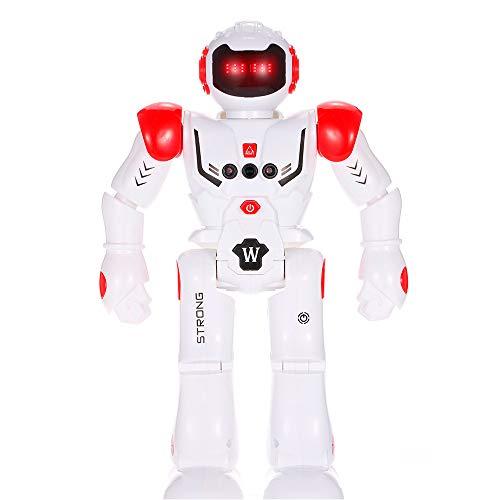 FILOL Smart Robot Toy for Kids Dancing Robot Gesture Control Remote Control Robot Programmable Intelligent Walk Sing Dance Robot for Gift Present Red