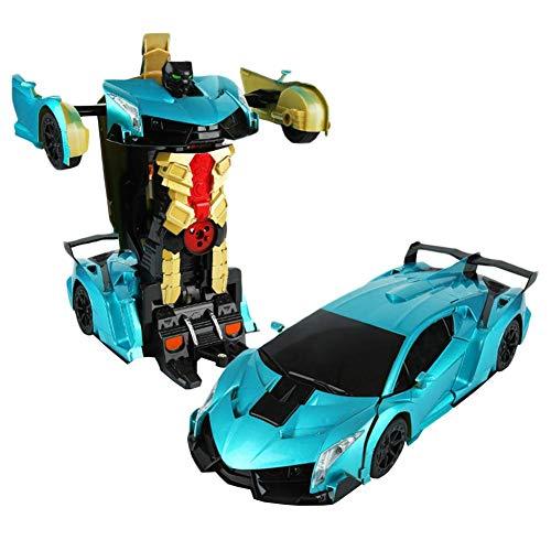 eformation Robot Model 112 Model RC Car RC Car One Button Deformation into Robot Remote Control Car Transforming Robot Deformation Toys Transform Car Robot for Kids - ALLGREEN