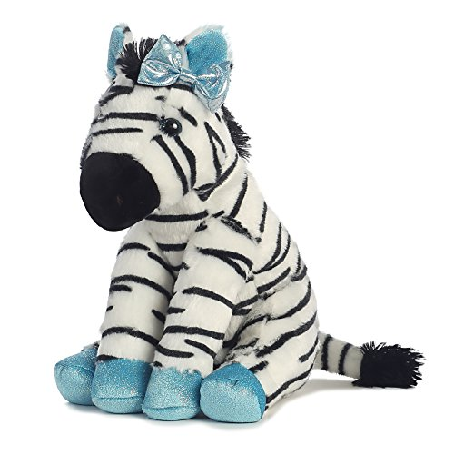 Aurora World Girlz Nation Blue Sparkle Zebra Plush