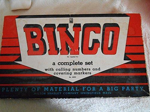 Vintage Milton Bradley Bingo Board Game dated 1939