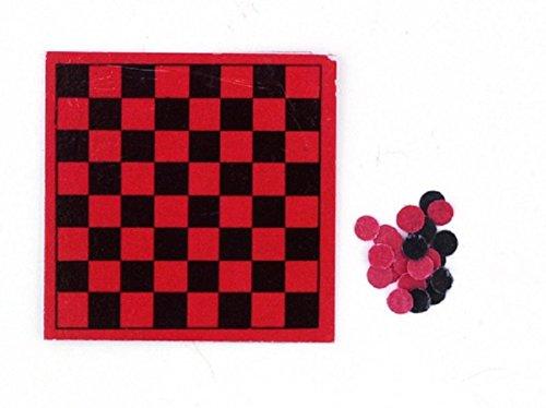 Dollhouse Miniature Checkers Board