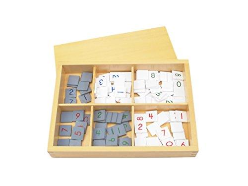 Montessori Number Tiles For Checker Board by PinkMontessori
