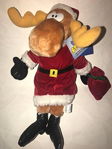 14 Bullwinkle Santa Christmas Stuffed Animal Plush