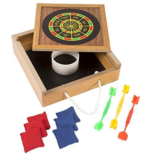Tabletop Bean Bag Toss Magnetic Dart Game Set