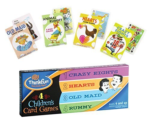 ThinkFun 4 Childrens Card Games by Think Fun