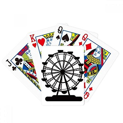 DIYthinker Black Ferris Wheel Amusement Park Silhouette Poker Playing Cards Tabletop Game Gift