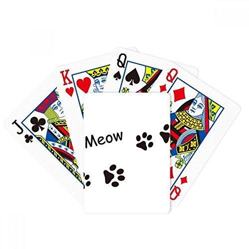 DIYthinker Cat Meow Animal Black Footprint Art Paw Print Poker Playing Cards Tabletop Game Gift