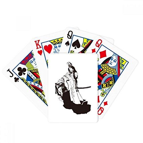DIYthinker Japan Black Kimono Illustration Poker Playing Cards Tabletop Game Gift