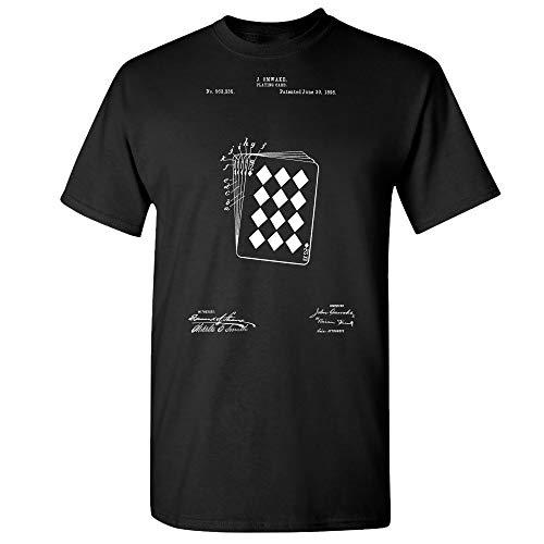 Playing Cards T-Shirt Poker Player Magician Gift Casino Shirt Game Room Tee Black