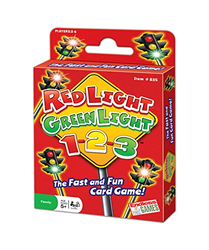 Red Light Green Light 1-2-3 - Card Game for Ages 5 and Up