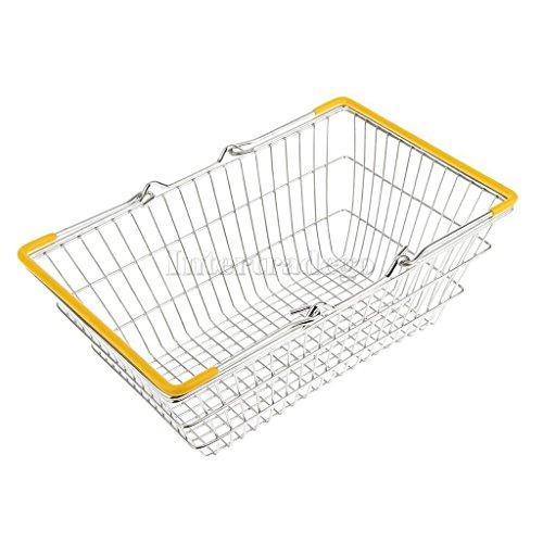 Sangdo Yellow Medium Metal Shopping Basket Table Storage Basket Kids Role Play Toys