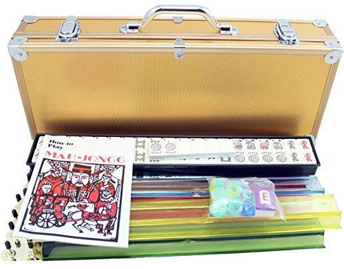 4 Pushers  Brand New Complete American Mahjong Set in Gold Case 166 Tiles mah Jong Mah Jongg Mahjongg