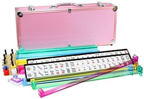 4 Pushers  Brand New Complete American Mahjong Set in PINK Case 166 Tiles mah Jong Mah Jongg Mahjongg