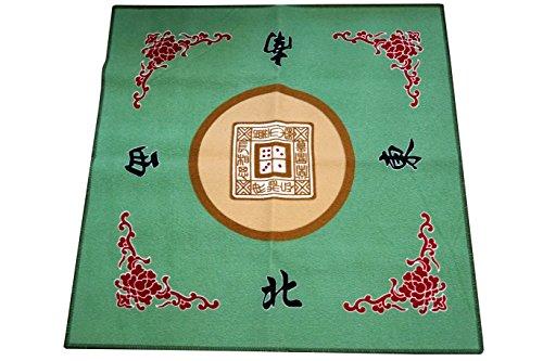Mstechcorp Mahjong  Card  Game Table Cover - Green