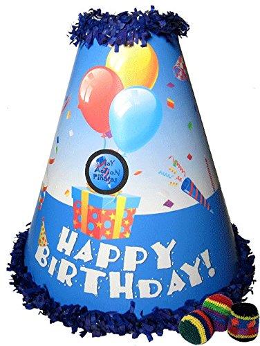 Play Action Pinatas Erupting Birthday Blue Pinata